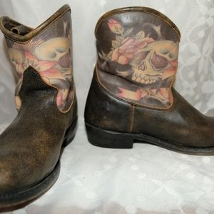 Ash Janice Western Boots, Distressed, Size 37